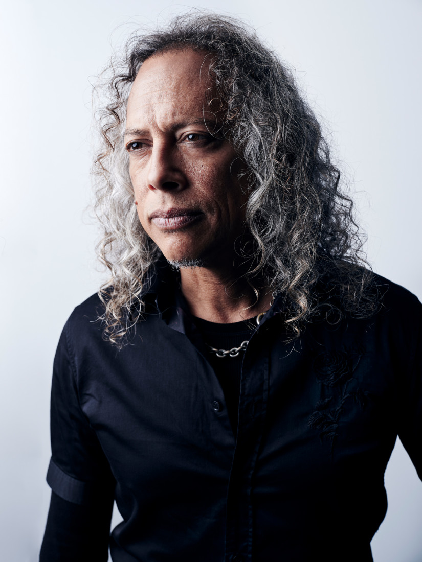 Kirk Hammett portrait - guitarist in Metallica
